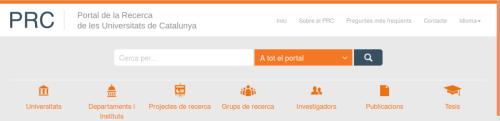 Portal de la Recerca de Catalunya